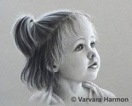 Addy, Charcoal portrait by Varvara Harmon