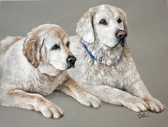 Lilly and Brady, Watercolor portrait by Varvara Harmon