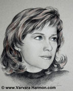Zenja, Commission charcoal portrait by Varvara Harmon