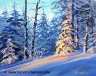 Winter Light-2, original acrylic painting by Varvara Harmon