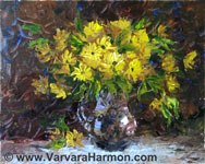 Yellow Banch, original painting acrylic on canvas by Varvara Harmon