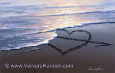 Cupid Arrow, Acrylic painting by Varvara Harmon