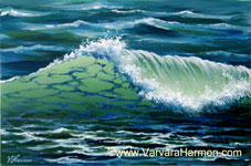 Wave, Acrylic painting by Varvara Harmon