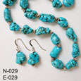 Turquoise Necklace & Earrings