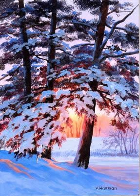 Winter Light, Oil painting
