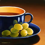 Cup with Grapes, oil painting