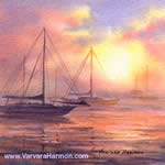 Sea Fog, watercolor painting