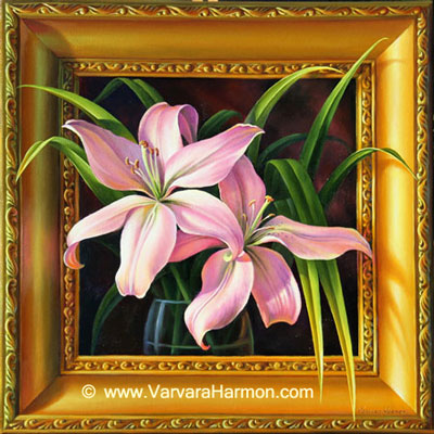 Lilies Duet, Oil painting