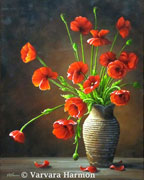 Poppies, oil painting on canvas 20x16