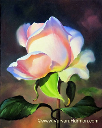 Rose-2, Oil painting