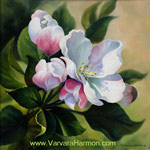 Spring Blossom-1, oil on canvas painting