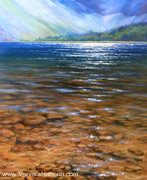 Chimney Pond, Original painting oil on canvas