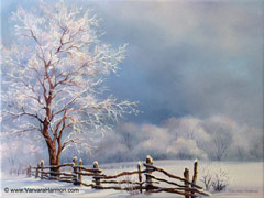 Frosty Day, oil painting on canvas 16x12