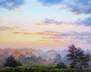 Misty Morning, oil painting on canvas 24x30