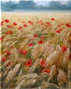Poppies Field, Oil painting on canvas