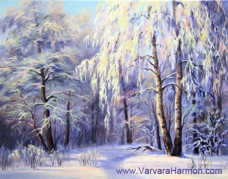 Snow Lace, oil painting on canvas