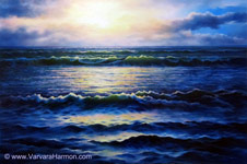 Evening Breeze, Oil painting on canvas 24x36;
