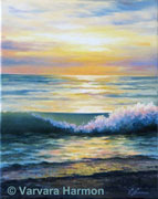 Ocean Eve, Original painting oil on canvas