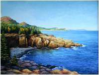 Acadia Cove, Oil painting on canvas 14x18