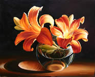 Lilies Light, oil painting