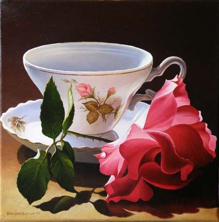 Mom's Cup, Oil painting