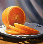Orange Plate, oil painting