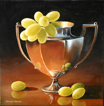 Still Life with Grapes, Oil painting