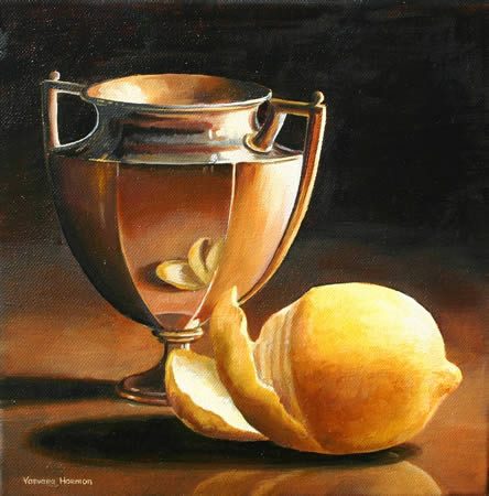 Still Life with Lemon, Oil painting