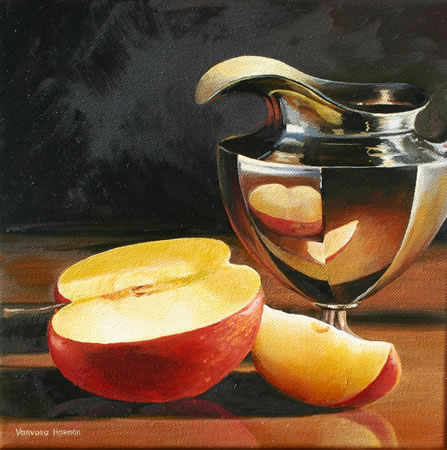 Still Life with an Apple, Oil painting