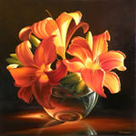 Three Lilies, oil painting