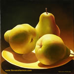 Three Pears, oil painting