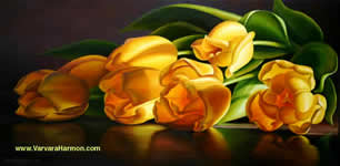 Yellow Tulips, oil painting