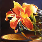 Orange Lily, oil painting