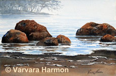 Quiet Breeze, Original Seascape Watercolor painting by Varvara Harmon